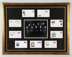 1968-69 Us Supreme Court Justices Signed Fdc Cachet Display Warren Court - ...