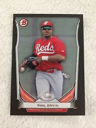 PHIL ERVIN ROOKIE quot;BLACK BORDERquot; 2014 BOWMAN CINCINNATI REDS RC BASEBALL CARD