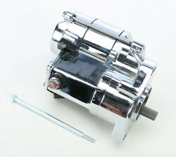 All Balls 1.7kw Chrome Electric Starter Motor For Harley Electra Glide 1989-2006