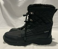 Totes Waterproof Insulated Black Boots #16336 0 Size 8 Med Black All Weather $28.99