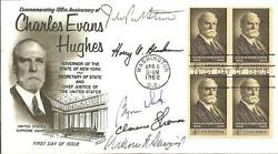 Five Supreme Court Justices Signed First Day Cover 1962 W/coa