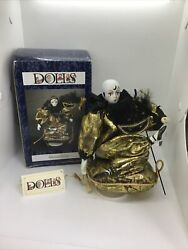 Dolls 1993 - Musical Pierrot - French Mime - Music Box Porcelain With Box