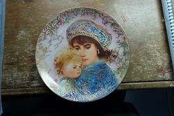 Collectible Plates Ednd Hibel 18kt 1987 By Mothers Day