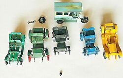 6 -1950and039s Vintage Horseless Carriage Plastic Cars Model Kits