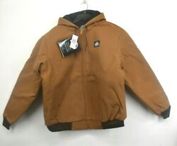 Vintage Nos Key Polar King Insulated Brown Duck Full Zip Hooded Jacket Mens 46t