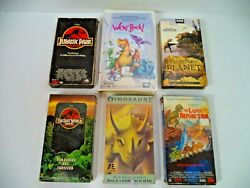 Lot Of 6 Dinosaur Vhs Movie Tapes, Jurassic Park Land Before Time We're Back Etc