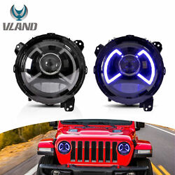 Led Round Headlight Left And Right Pair For Jeep Wrangler Jl Jlu Gladiator 18-20