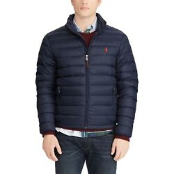 Nwt Polo Big And Tall Menand039s Packable Down Jacket Aviator Blue 3xlt