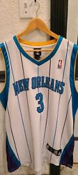 Rare Vtg Authentic Nba Adidas New Orleans Hornets Chris Paul 3 Jersey 48 Sewn