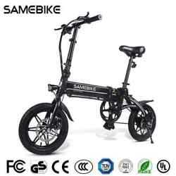 Samebike 14 Aluminum Alloy Folding Electric Bike 36v250w E-bike Lithium Battery
