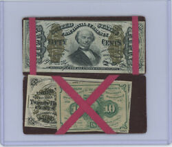 Fractional Currency Flip Over Magic Wallet With 3 Fractional Notes