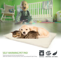 NEW Self Warming Pet Bed Cushion Pad Dog Cat Cage Kennel Crate Soft Cozy Mat