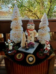 Bethany Lowe☆holiday☆figurine ☆ Christmas☆vintage☆collectables☆decor☆snowman