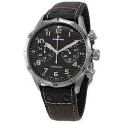 Junghans Meister Pilot Chronoscope Chronograph Automatic Black Dial Menand039s Watch