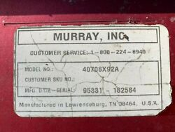 Parts For 1996 Murray Riding Mower 40708x92a Parting Out Entire Mower