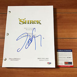 Eddie Murphy Signed Shrek Full 115 Page Movie Script W/ Psa Dna Coa And Proof Pic