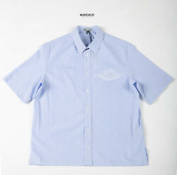 Authentic New Air Dior Unc Blue Button Up Size 40 L W/ Tags - 2020 Dior Collab