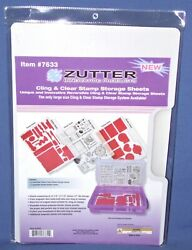 Zutter Cling And Clear Stamp Storage Sheets 7633 Size 12-1/4x8-1/2 New 3 Pack