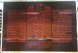 Germany 1939kassel Meeting For Imperial Warriors Day Rrroriginal Poster