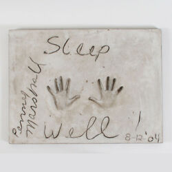 Penny Marshall Signed And Inscribed Original Cast Of Concrete Handprint By Arti...