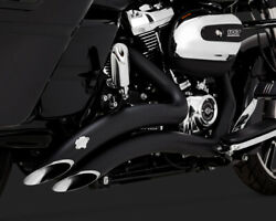Vance And Hines Big Radius 2 Into 2 Exhaust Black For Harley Street Glide 2017-19