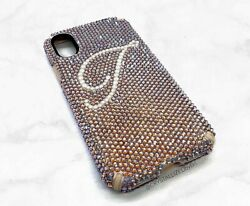 Personalized Crystallized Iphone Android Case Name Initials W/ Crystals