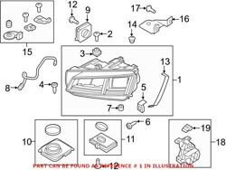 Genuine Oem Front Right Headlight Assembly For Audi 8s0941774e