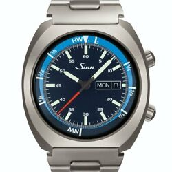 Sinn 240.st.gz Automatic Stainless Steel Day Date Blue German Menand039s Watch 43mm