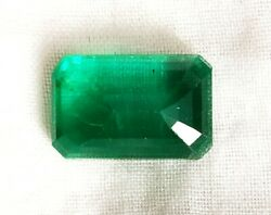 Zambia Emerald 4.62 Crt Natural Untreated Green Octagon Certified Gemstone A12