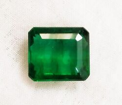 Zambia Emerald 5.52 Crt Natural Untreated Green Octagon Gtl Certified Gemstone