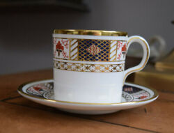 Royal Crown Derby Demitasse Cup And Saucer Derby Border Display Condition