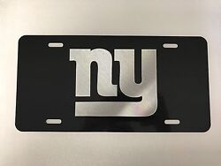 New York Giants Logo Car Tag Diamond Etched On Aluminum License Plate