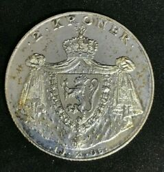 1906 Norway 2 Kroner Silver Coin Km363  1274