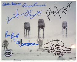 Ilm Signed Autographed 8x10 Photo By 8 Ilm Legends At-at Star Wars Opx Beckett