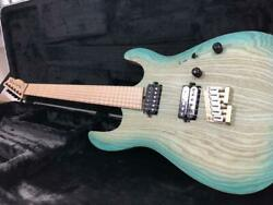 Saito S-624ms 6 String Turquoise Electric Guitar W/ Hard Case Shipped From Japan