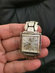 1966 Vintage Mens Omega 14k Watch, 2 Diamonds Each At 12,3,6,9 Hours, One Owner