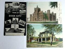 Lot Of 3 Dif 1906-09 Postcards Of Sioux City Iowa Elks Clubschoolviews Of City