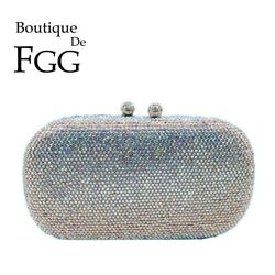 Dazzling Crystal Clutch Purses For Women Evening Bags Formal Dinner Handbags $30.99