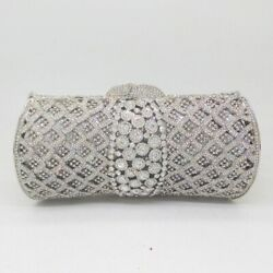 Women Crystal Clutch Purses Evening Bags Bridal Diamond Wedding Party Handbags $65.99
