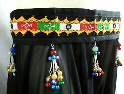 Belly Dance Jewelry Ethnic Costume Coin Belt Teal Tribal Fusion Kuchi Gypsy Boho