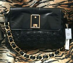 New W Tags Marc Jacobs Black Leather Chain Shoulder Bag Large