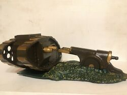 Original Starkieand039s Tank And Cannon Cast Iron Mechanical Bank C.1920and039s