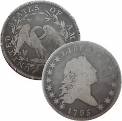 Rare 1795 50c Half Dollar Flowing Hair Lettered Edge 0.8920 Silver You Grade