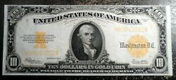 Beautiful Exceptional Uncirculated 1922 10 Gold Certificate