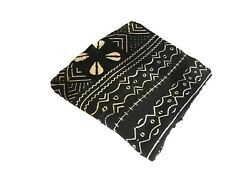 African Black And White Mud Cloth Textile Mali 43 By 64