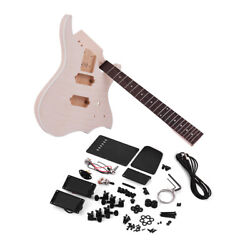 Muslady Unfinished Diy Electric Guitar Kit Basswood Body Maple Guitar Neck S5f6