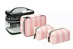 Victorias Secret 4 in 1 Train Case Cosmetic travel Makeup Beauty bag $37.99