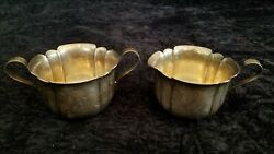 Vintage Wm. A Rogers Silver-plated Cream And Suger Bowls