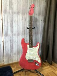 Fender Stratocaster St62 6 String Rare Pink Electric Guitar With Hard Case