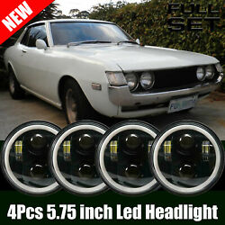 4pcs 5.75inch 5 3/4 Round Led Headlights Upgrade Fit Toyota Celica 1972-1979 Us